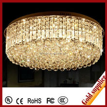 Copper bulb white crystal ceiling lamp