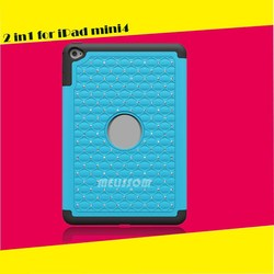 Pc+Silicone 100% Handmade Bling Rhinestone Combo Case For Mini Ipad 4