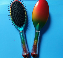 Detangling colorful hair brush with bling osaki handle
