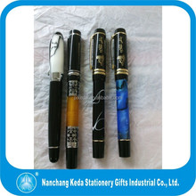 Heavy and Deluxe Style Pen with epoxy logo on top