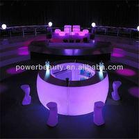 PE led illuminated bar furniture commercial home bar counter design