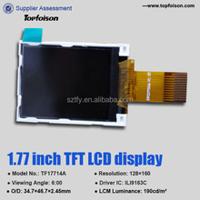 low price 128*160 tft lcm1.77 inch TF17714A