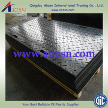Anti-slip heavy duty roadway/HDPE track mats/temporary floor protection/large plastic floor mat
