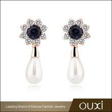 OUXI 2015 newest design imitation pearl earring korean replica designer jewelry