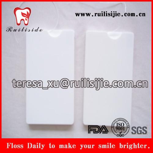 Fio dental cartão dental super fino com impressão de informações do logotipo de marca pessoal
