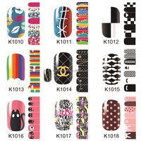 Hot selling custom nail art sticker, Christmas design stickers nail art, cartoon nail art sticker