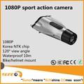 Venda quente impermeável 10 m 1080 P barato mini câmera do capacete de moto