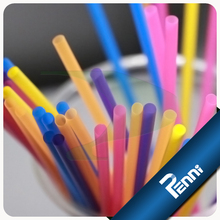 Food Grade PP Unwrapped Colored Drinking Straws