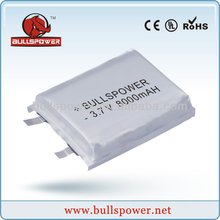 lithium-ion(lipo)battery3.7v 8050156 8000mah harga power bank for samsung galaxy note battery,emergency polymer power bank,