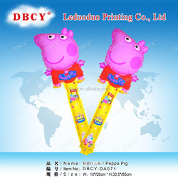 inflatable peppa pig toys balloon clap stick