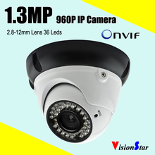Wholesale 36pcs ir leds 960p 1.3mp hot sale onvif dome cctv security camera module rj45 wifi function digital network camera