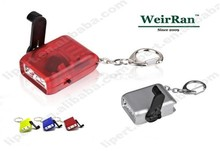 (160127) High quality emergency promotional plastic dynamo powered flashlight