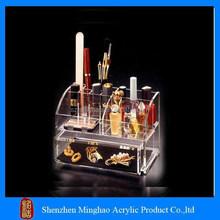 Acrylic makeup organizer brushes holder, acrylic lipstick tower, nail polish shelf acrylic