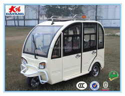 beautiful cheap high quality800w closed electric passenger tricycle 3 wheeler
