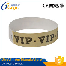 ISO CE FDA Certificate one time using adjustable school wristband