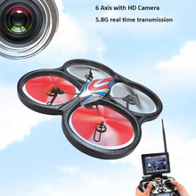 2015 new products 2.4GHz 3D rolls headless barometer positioning RC helicopter drone with HD camera with 5.8GHz FPV transmitter