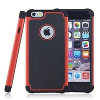 Football Grain Pattern Silicone PC Protective Back Case Cover For iPhone 6 Plus