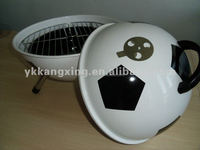 popular football bbq grill with three legs