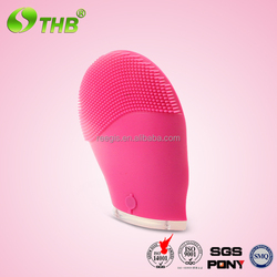 new products on china market CE FCC Patent approved waterproof electric vibrating silicone face brush facial exfoliating brush
