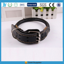 LF High-end Durable Diamtere 26MM Rolled Leather Dog Collar