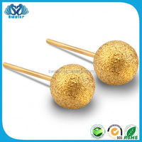 Fashion Products Single Stone Gold Stud Earrings