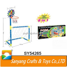 Kids outdoor toys plastic folding football soccer goal with nets