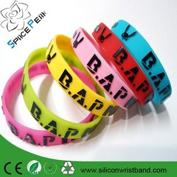 Best Selling Embossed Print Silicone Wristband Cheap Golf Sport Silicone Wristband