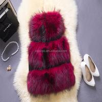 2015 Fashion Women Genuine Raccoon Dog Fur Short Coats Women