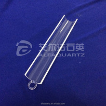 high purity round bottom clear quartz boat with handle /quartz semicircle boat for solar and semiconductor