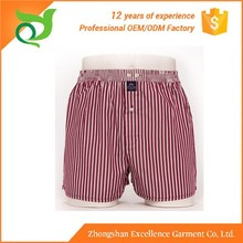 Zhong shan factory made in china for man underwear trunk cotton