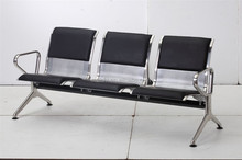 Hot sales PU padding 3 seats bench waiting seat for airport