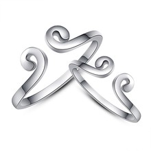 New products 2015 silver plated funny couple big rings fashion jewellery engagement ring for lovers jewelry