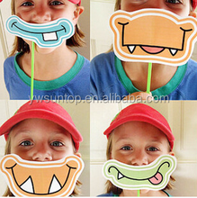 2015 Little Monsters party masks photo props for kids birthday wedding party supplies