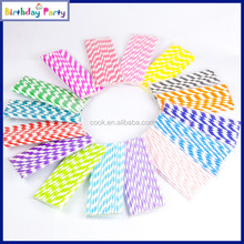 hot selling striped paper drinking straws for party
