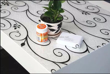 """1.3m/52"""" ROUND wipe clean bird trail grey oilcloth pvc cover TABLE CLOTH CO"""