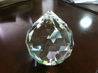 AAA quality 60mm cut clear christmas crystal ball tree ornament