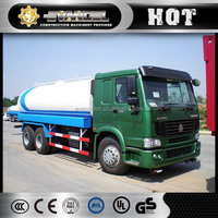 Widely used 6*4 HOWO transportation 6000 10000 20000 liter water tank truck for sale