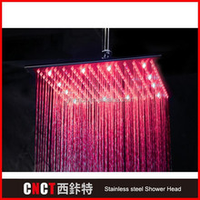 "16*31"" rectangle Brush Surface 304 stainless steel LED shower head camera"