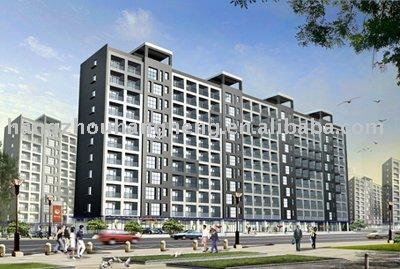 Acero de casas prefabricadas estructura edificio de apartamentos de construcción