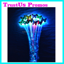 Hot Selling Multicolors Shinning Butterfly LED Flashing Braid / LED Hair Braid / Flashing Butterfly LED Lights