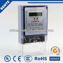 DDS196 type single phase electric digital 220/240v AMI AMR PLC RF Modem energy meter with GPRS