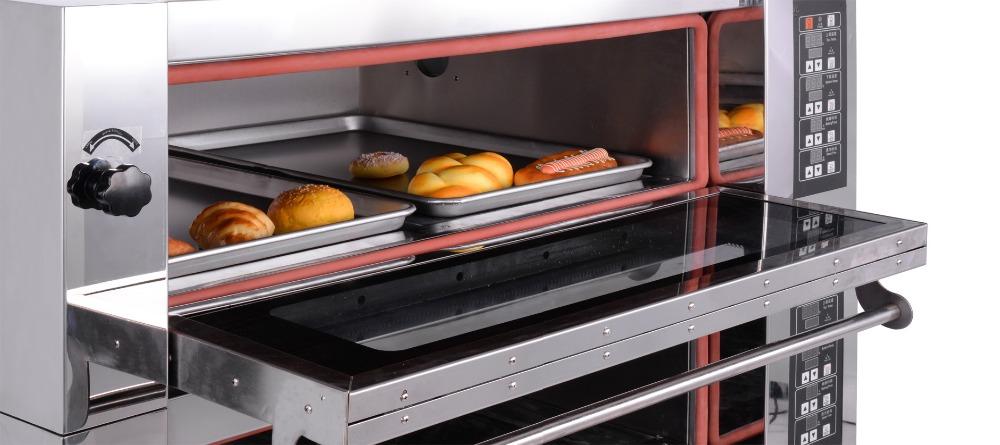 vente chaude ikitchening machines de boulangerie cuisson du pain four double pont pizza fours. Black Bedroom Furniture Sets. Home Design Ideas