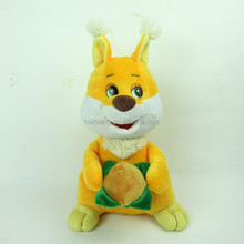 newest design baby soft gift plush stuffed toy yellow squirrel