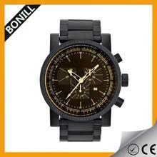 Wholesale Alibaba Ce Approved Japan Movt Black Watch,2015 men's black watch