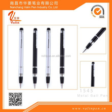 sliver & black advertising promotional metal ball pen