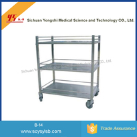 Stainless steel Medical Food Cart for Sale /Mobile Food Cart for sale