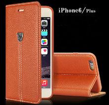 Premium Genuine Phone Case For Apple iPhone 6 / 6 Plus, Leather Flip Case Cover For iPhone 6