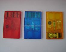 Promotional Plastic Credit Card Sewing Kit Set