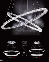 New Style LED Ceiling Light crystal Lamps Ring Pendant Lamp LC20091/LC20092