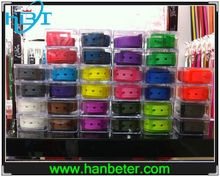 High Quality Unisex rubber silicone belt with interchangeable plastic buckles